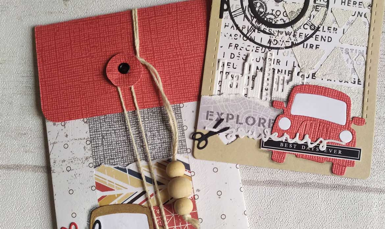 présentation carte polaroid par Kouneli pour Laure de Mes Ptits Ciseaux Scrapbooking