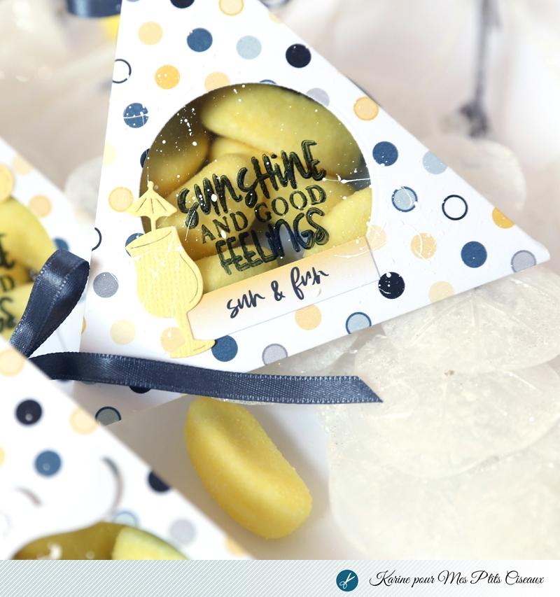 boites à bonbons DIY scrapbooking collection Farniente Mes ptits ciseaux