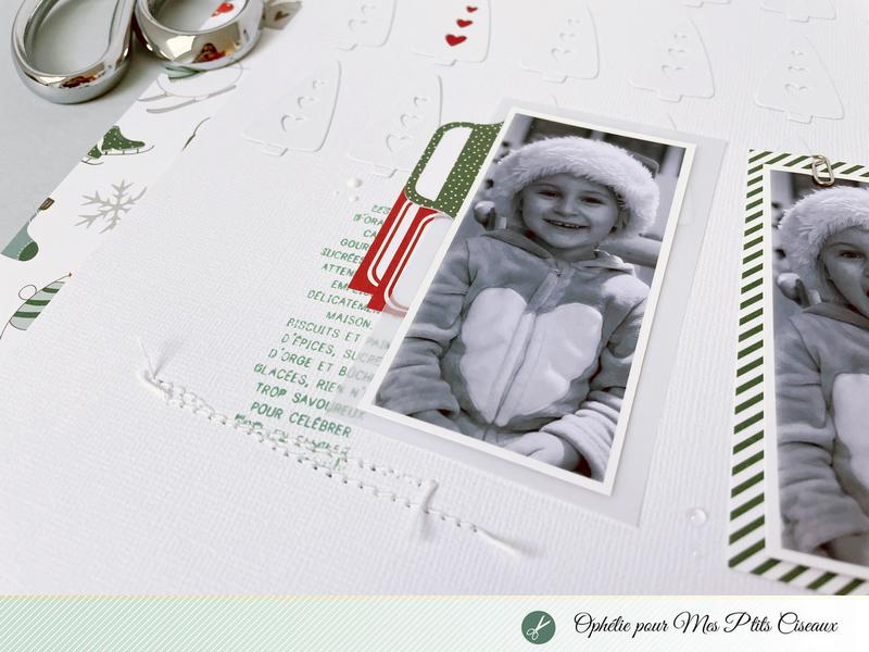 Page scrapbooking Collection Flocons Mes ptits ciseaux